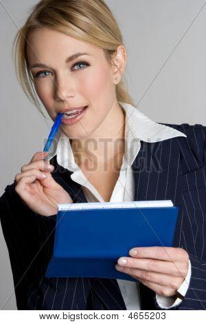 Check Writing Businesswoman