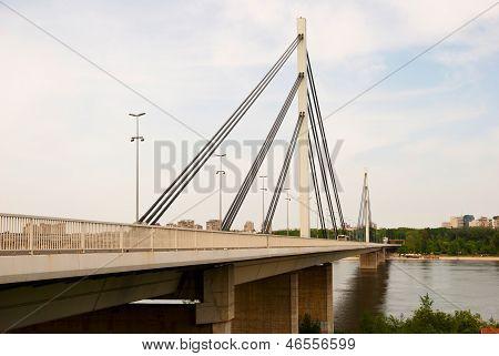 Brige Of Liberty Crossing The Dunabe River In Novi Sad, Vojvodina, Serbia