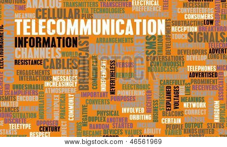 Telecommunications Net Global Industry as a Art