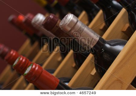 Diagnal Wine Bottles
