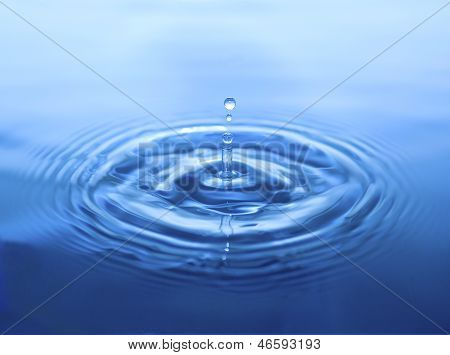 Water Drop Splash With Column