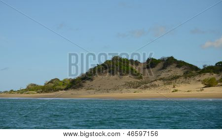 Landscape Of Sand Dune, Ocean And Sky In Tropical Destination