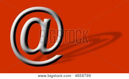 Arobase At Email Symbol Illustration