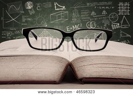 Book And Glasses In Class