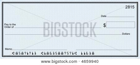 Blank Check Blue (false Account)
