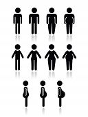 Male and female body types - lose weight, fitness, healthy lifestyle concept poster