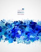 seamless pattern forming by blots poster