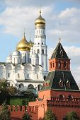 The Ivan the Graet Bell Tower of Moscow Kremlin, Russia poster