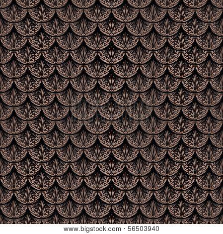 Art deco vector geometric pattern in brown color