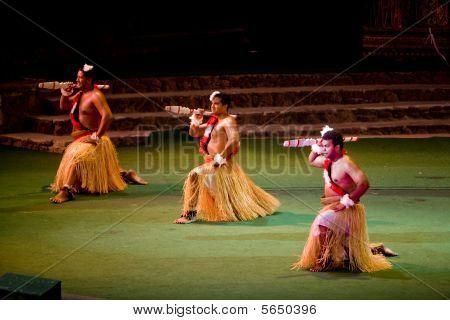 Tongan Dancers At Polynesian Cultural Center