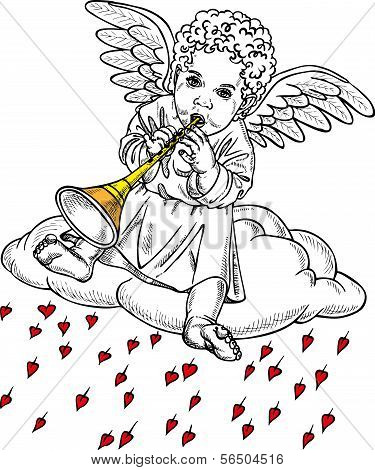 Cupid Playing A Pipe