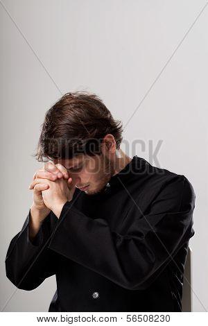 Priest Meditating