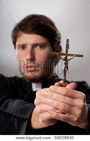 Exorcist With Crucifix