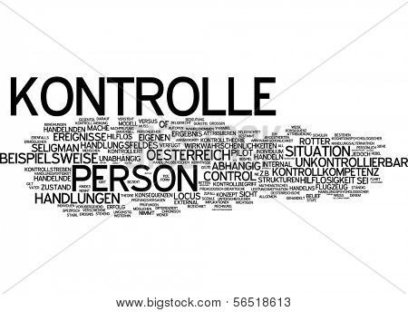 Word cloud -  control