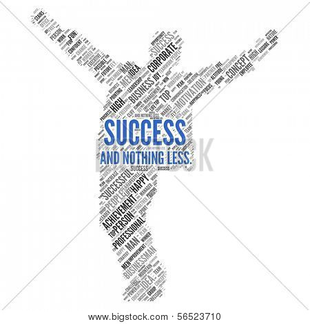 "Motivation quote | ""Success and nothing less"" poster"
