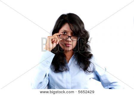 Teenager Wearing Glasses
