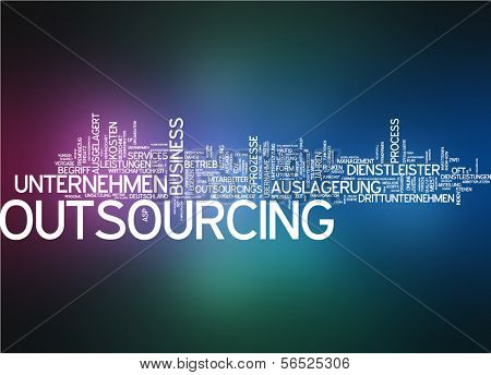 Word cloud -  outsourcing