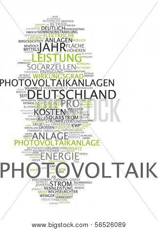 Word cloud -  photovoltaics