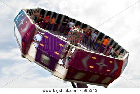 Tilt-a-whirl At Fair