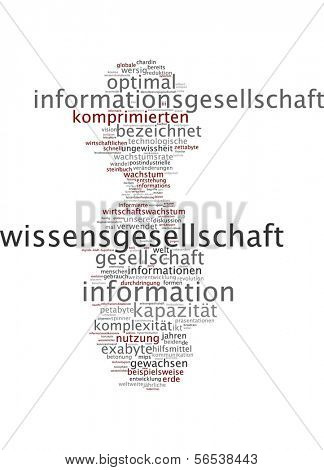 Word cloud -  information society poster