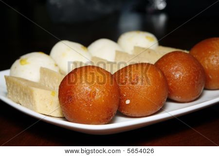 indian sweets in plate