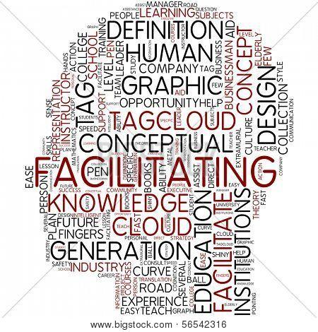 Info-text graphic - facilitating