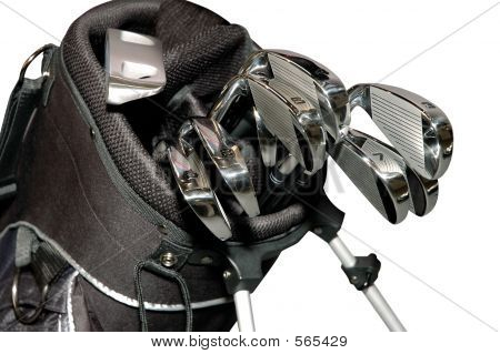 Golf Clubs In A Bag Isolated