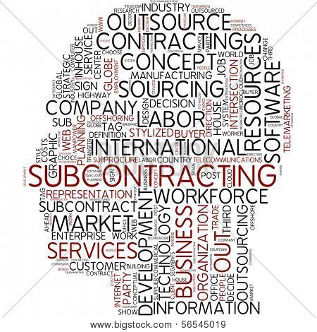 Info-text graphic - subcontracting