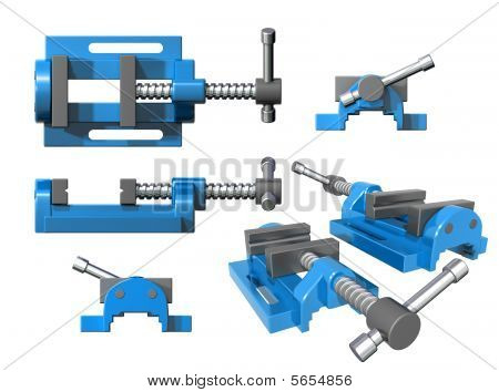 Set Of Metal Clamps