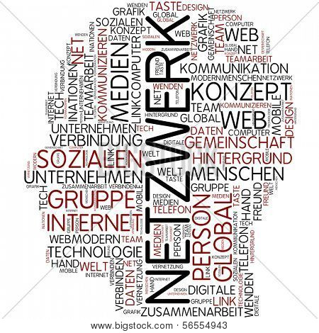 Info-text graphic - network