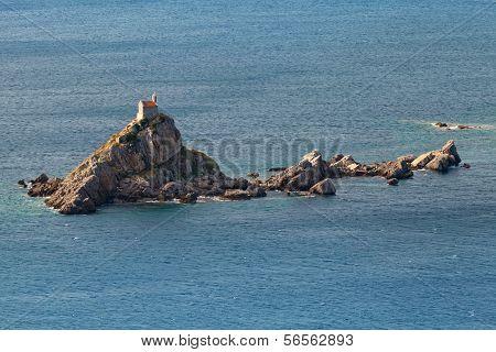 Small island Sveta Nedjelja in Adriatic Sea Montenegro poster