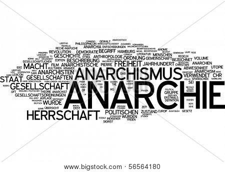 Word cloud - anarchy