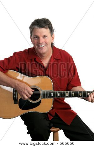 Lächelnd Musiker