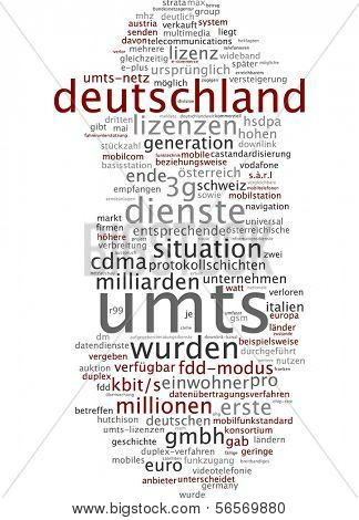 Word cloud - UMTS