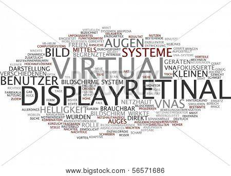 Word cloud - virtual retinal display poster