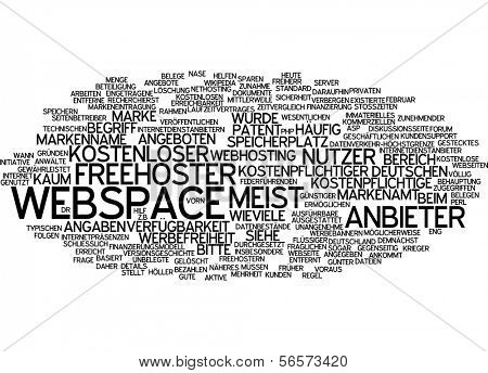 Word cloud - webspace