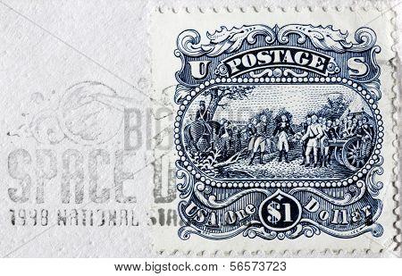 One Dollar Us Stamp