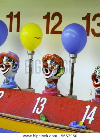 Clown Game At An Amusement Park