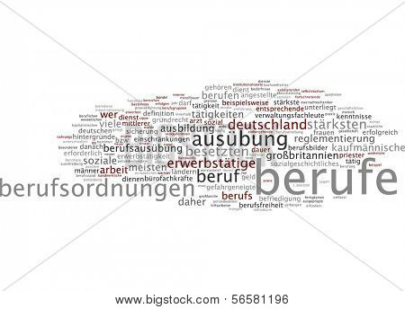 Word cloud - occupations