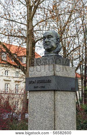 Monument To Leon Schiller In Warsaw