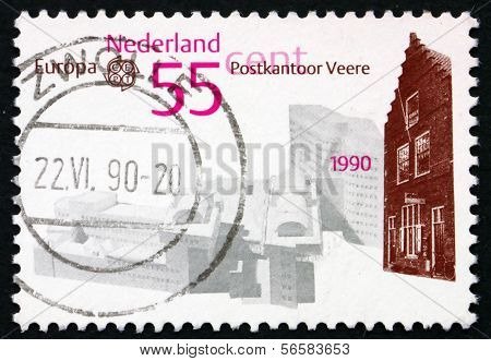 Postage Stamp Netherlands 1990 Veere, Municipality And City