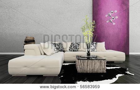 3D rendering of living room