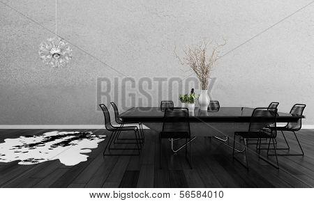 3D rendering of dining room