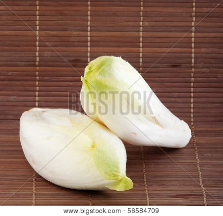 fresh endives close up