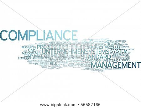 Word cloud - compliance poster