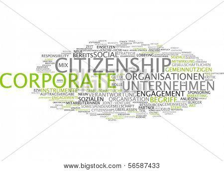 Word cloud - corporate citizenship