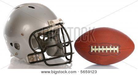Fußball Helm und ball