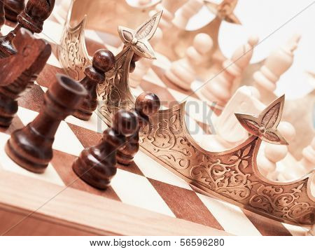 Chess Board With A Crown
