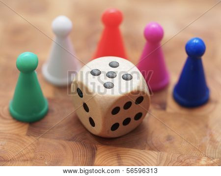 Game Pieces And Dice