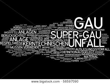 Word cloud - maximum credible accident poster